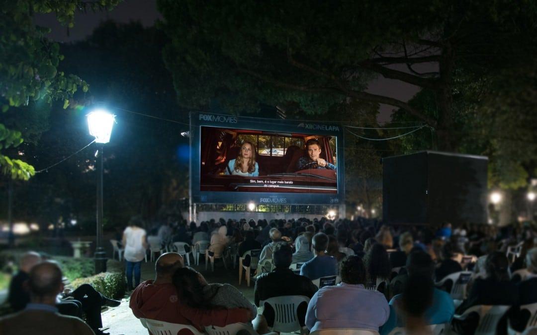 CineLapa: cinema ao ar livre no Jardim da Estrela