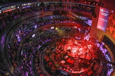 vista de cima dos concertos realizados no Casino de Lisboa