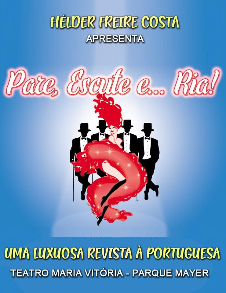 cartaz da revista à portuguesa Pare, escute... e Ria