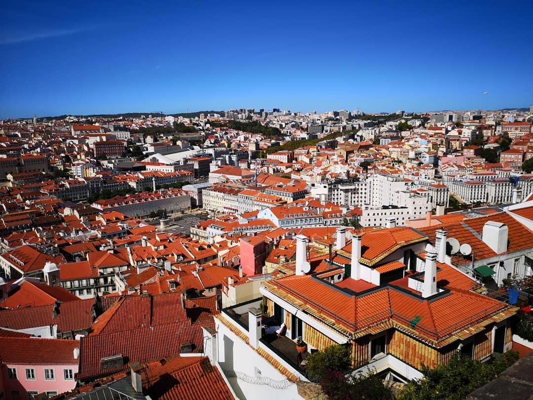 Lisboa do Castelo de São Jorge vista de cima