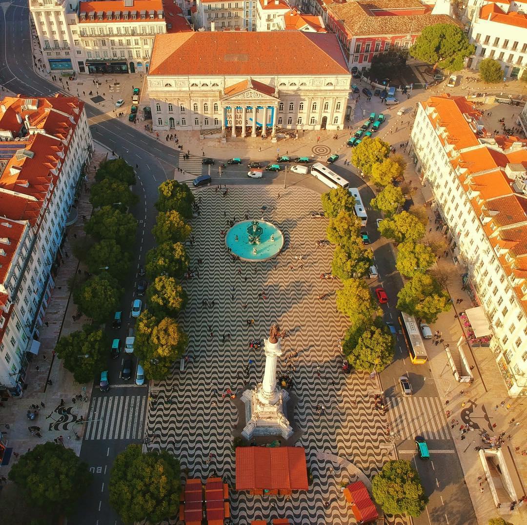Praça do Rossio vista de cima
