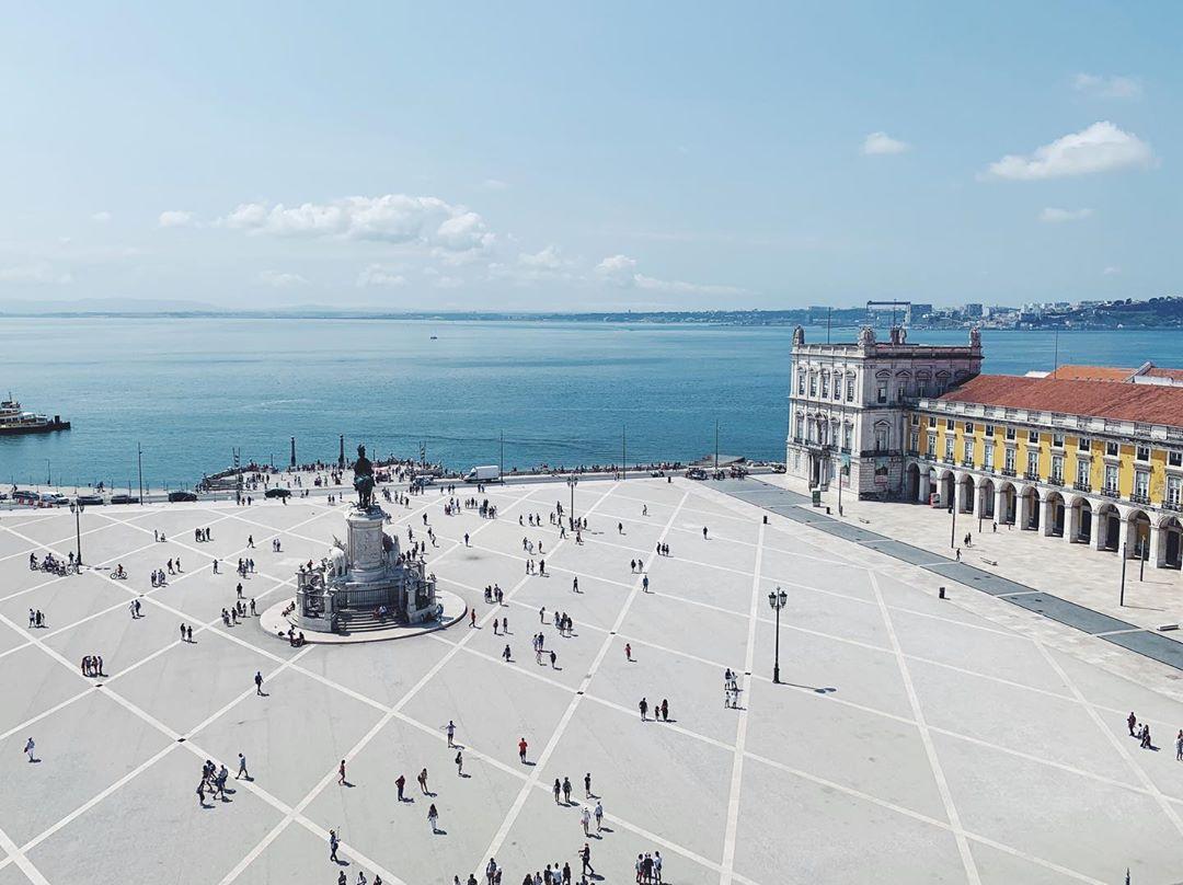 Praça do Comércio vista de cima