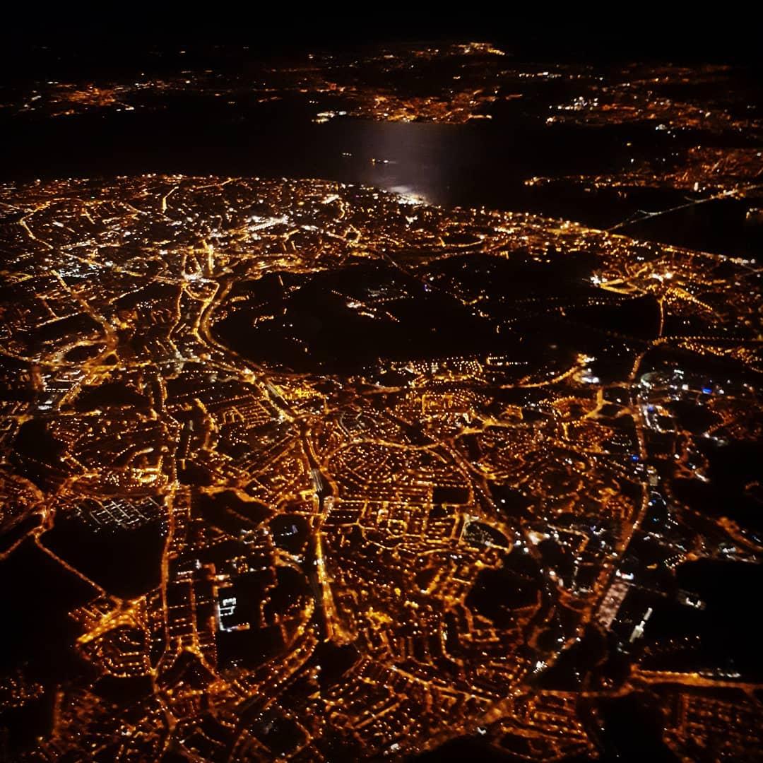 Lisboa à noite vista de cima