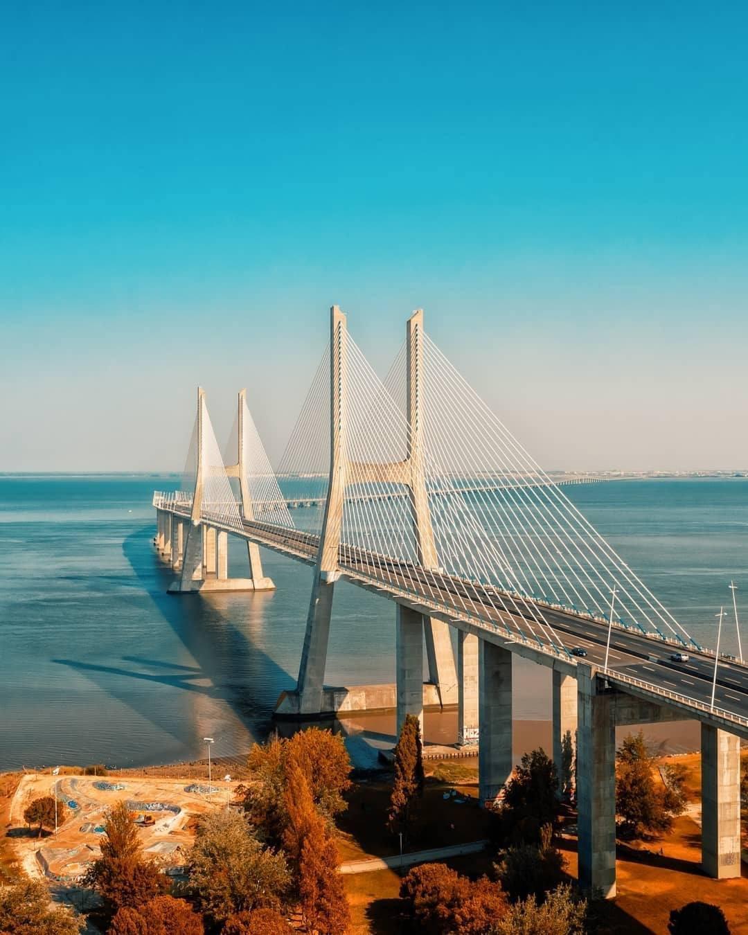 Ponte Vasco da Gama vista de cima