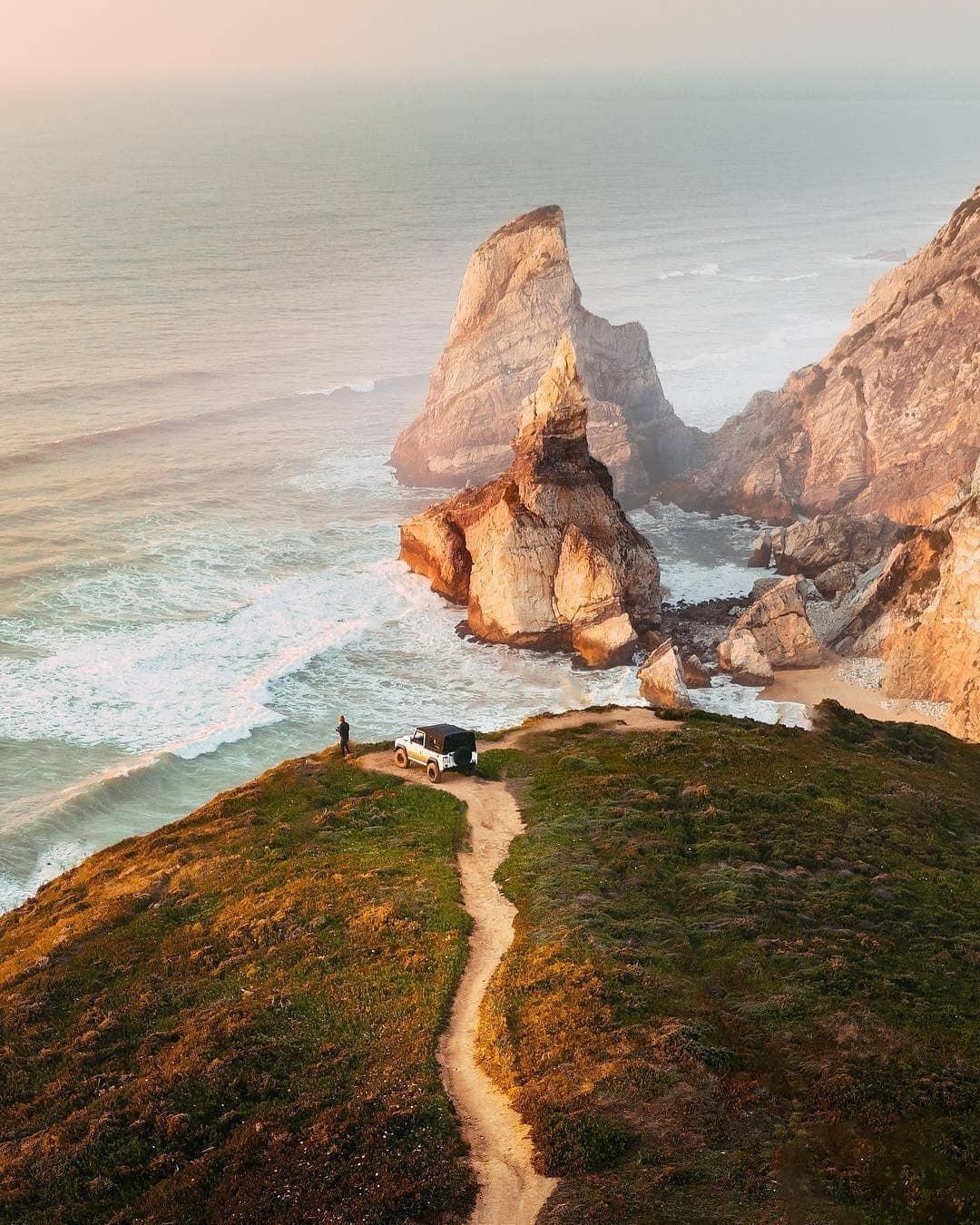 Praia da Ursa, em Sintra, vista de cima