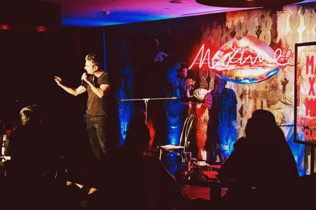 Gel a fazer stand up comedy no Maxime Comedy Club
