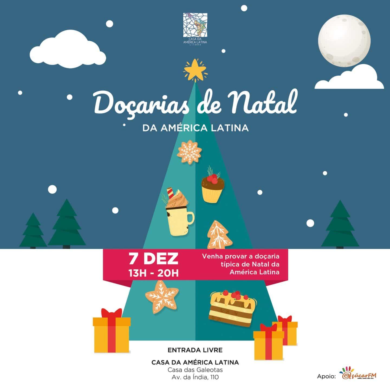 cartaz Mercado de Doçarias de Natal na Casa da América Latina