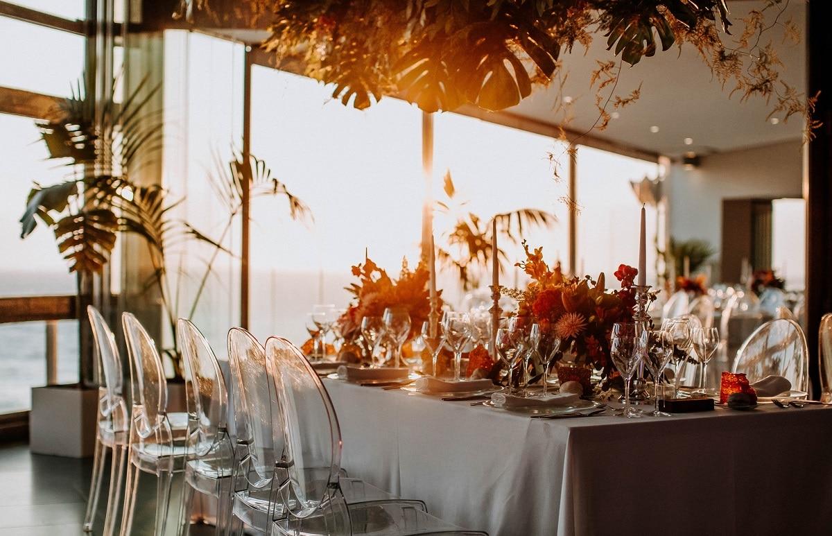 mesa de casamentos
