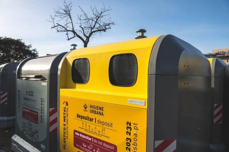 novos contentores de lixo em lisboa