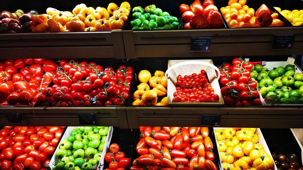 verduras num supermercado