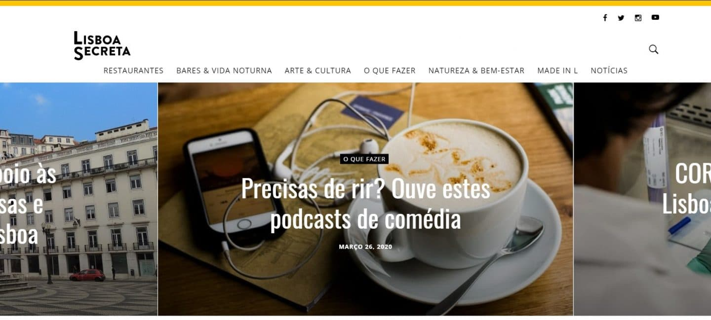 printscreen do site da lisboa secreta