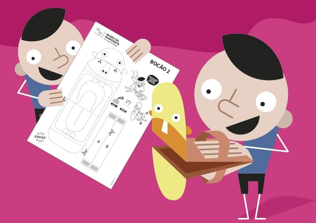 O Museu da Marioneta disponibiliza trabalhos manuais para toda a família