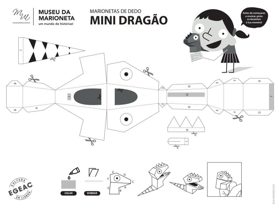 desenho de marioneta em pdf para recortar