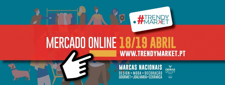 cartaz promocional do Trendy Market Oeiras