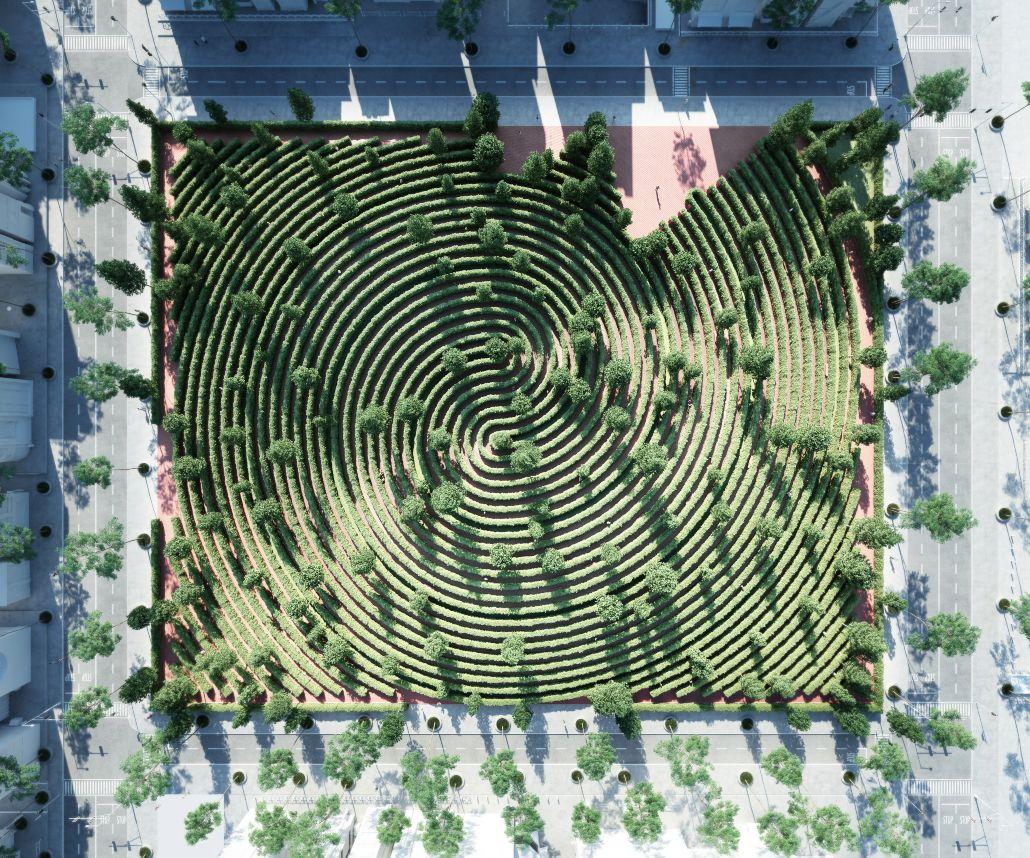 """""""Parque da Distância"""", um jardim para caminhar onde não te cruzas com ninguém"""