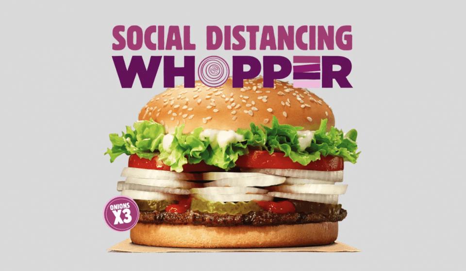 Burger King cria hamburguer para promover distanciamento social