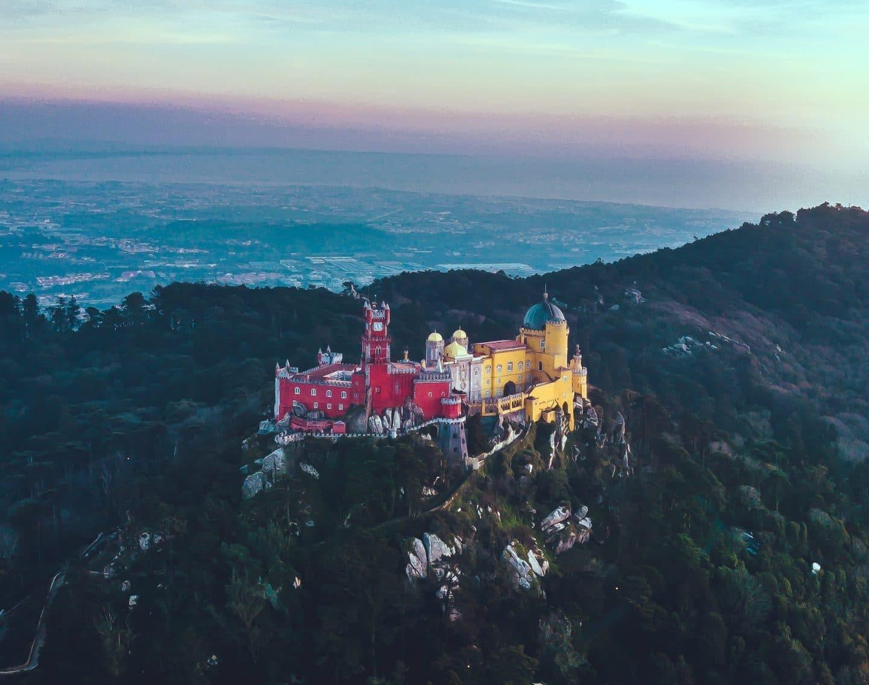 palácio da pena visto de cima
