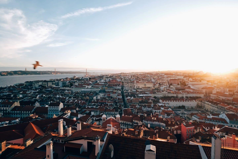 vista sobre a cidade de lisboa