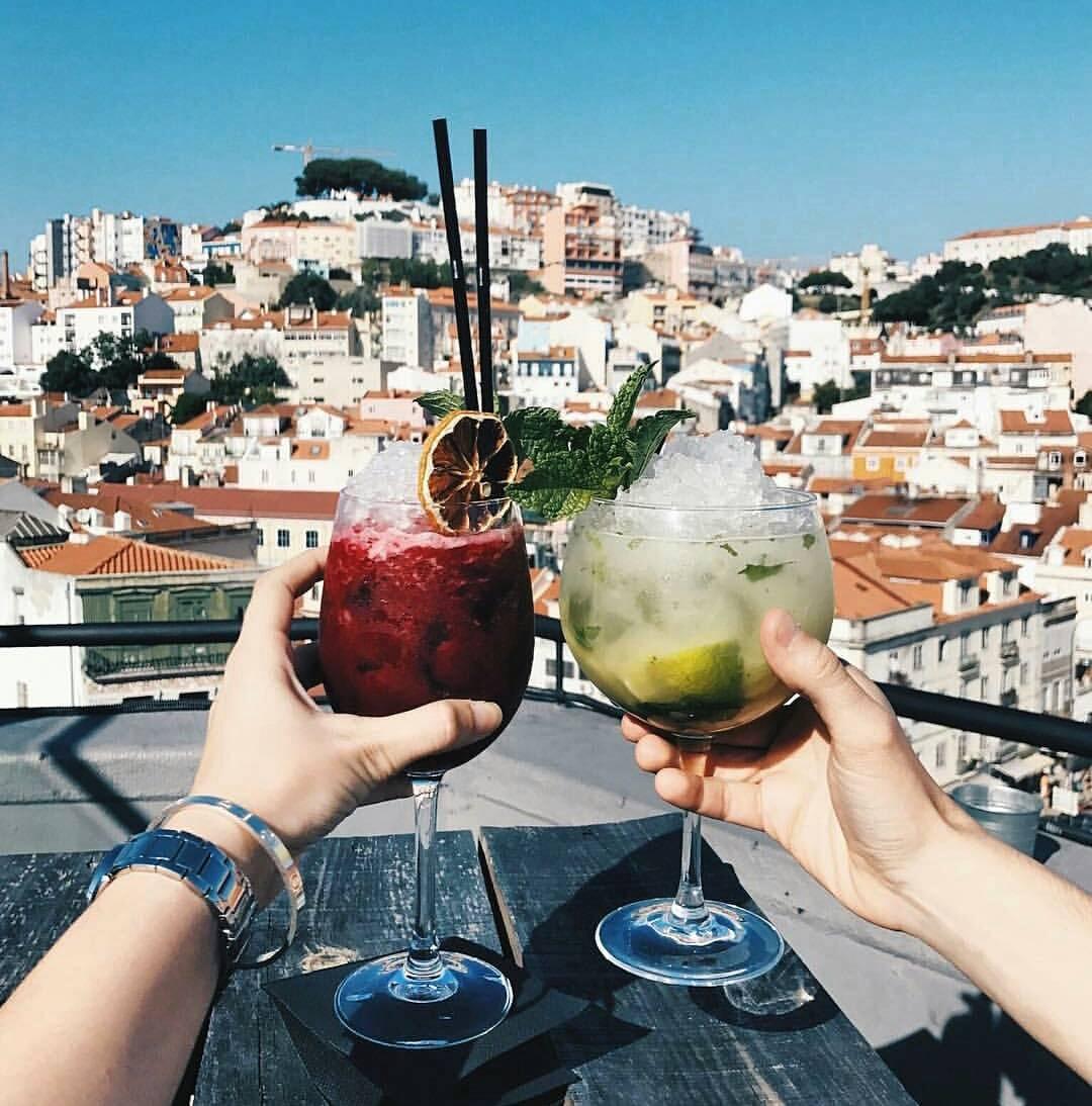 cocktails no TOPO Chiado